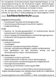 thumbnail of Stellenausschreibung Kirchenkreisverband Prignitz-Havelland-Ruppin